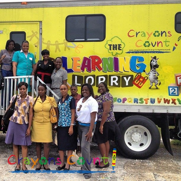 Historic photo- the first ever Crayons Count School tour photo